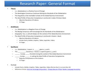 Research  Paper:  General Format