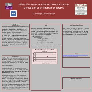 Effect of Location on Food Truck Revenue Given Demographics and Human Geography