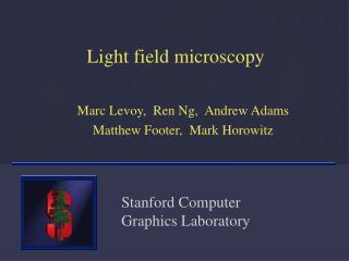 Light field microscopy