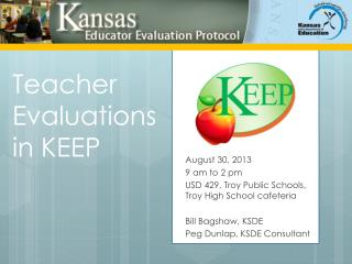 Teacher Evaluations in KEEP