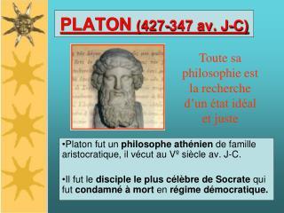 PLATON 427-347 av. J-C