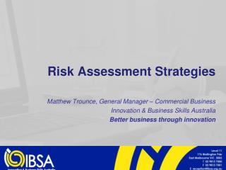 Risk Assessment Strategies