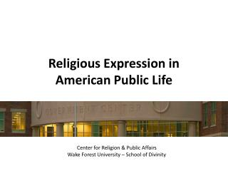 Religious Expression in American Public Life