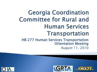 Georgia Coordination Committee for Rural and Human Services Transportation