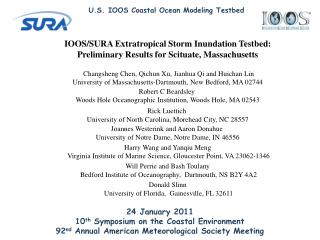 IOOS/SURA Extratropical Storm Inundation Testbed: