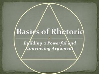 Basics of Rhetoric