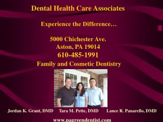 Dental Health Care Associates Experience the Difference...