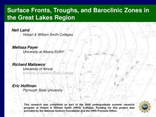 Surface Fronts, Troughs, and Baroclinic  Zones in the Great Lakes Region Neil  Laird