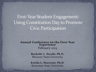 First-Year Student Engagement:  Using  Constitution Day to Promote  Civic  Participation