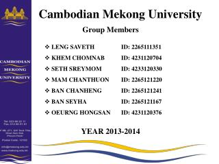 Cambodian Mekong University