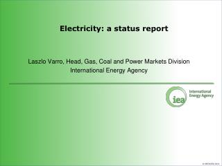 Electricity: a status report