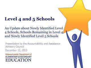 Level 4 and 5 Schools