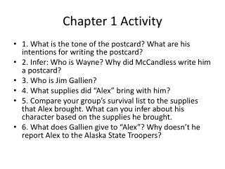 Chapter 1 Activity