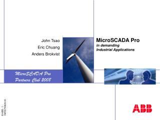 MicroSCADA Pro in demanding Industrial Applications
