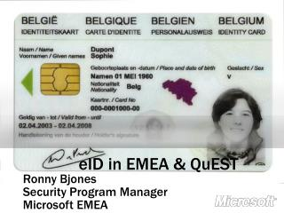 EID in EMEA  QuEST