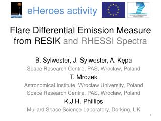Flare Differential Emission Measure from RESIK  and RHESSI Spectra