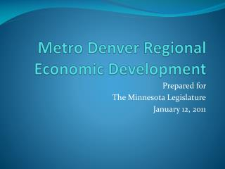 Metro Denver Regional Economic Development