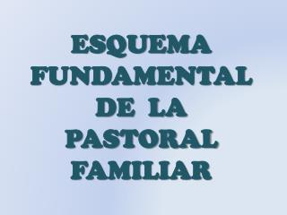 ESQUEMA FUNDAMENTAL    DE  LA PASTORAL    FAMILIAR