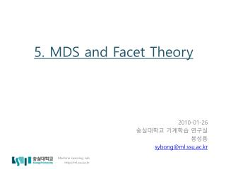 5. MDS and Facet Theory