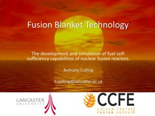 Fusion Blanket Technology