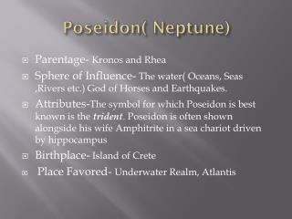 Poseidon( Neptune)