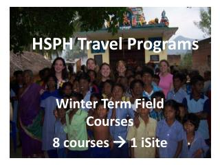 HSPH Travel Programs