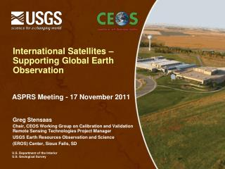 International Satellites –  Supporting Global Earth Observation