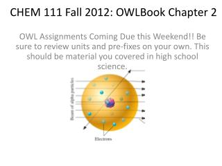 CHEM 111 Fall  2012:  OWLBook  Chapter 2
