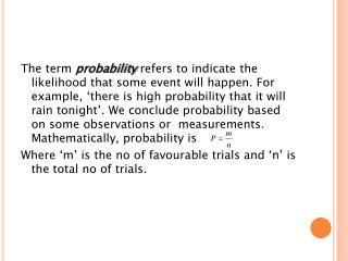 Probability..