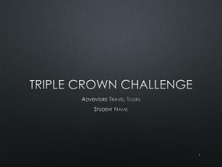 Triple  Crown  Challenge
