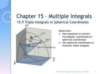 Chapter 15 – Multiple Integrals