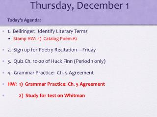 Thursday, December 1