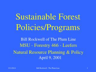 Bill Rockwell - The Plum Line