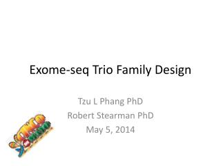 Exome-seq  Trio Family Design