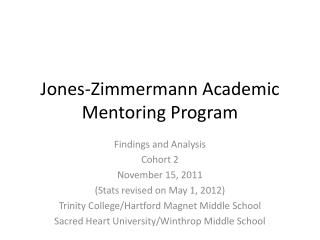 Jones-Zimmermann Academic Mentoring Program