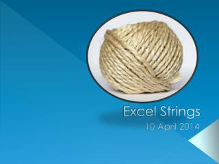 Excel Strings