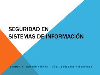 Seguridad en  Sistemas de Información
