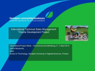 International Technical Sales  Management  Tricycle Development Project