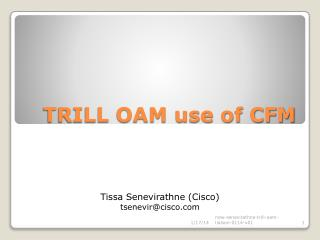 TRILL OAM use of CFM