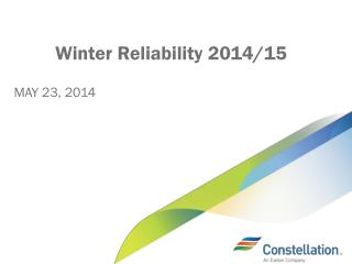 Winter Reliability 2014/15