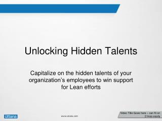 Unlocking Hidden Talents