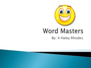 Word Masters