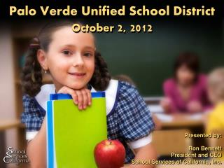 Palo Verde Unified School District October  2, 2012