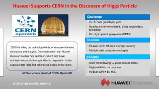 Huawei Supports CERN in the Discovery of  Higgs  Particle