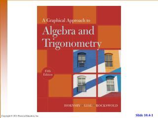 10.4Trigonometric (Polar) Form of Complex Numbers