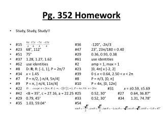 Pg. 352 Homework