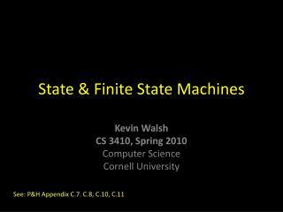 State & Finite State Machines
