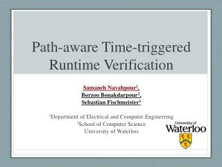 Path-aware Time-triggered Runtime Verification