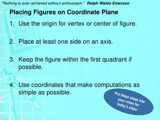 Placing Figures on Coordinate Plane
