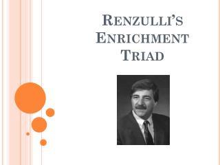 Renzulli�s Enrichment Triad